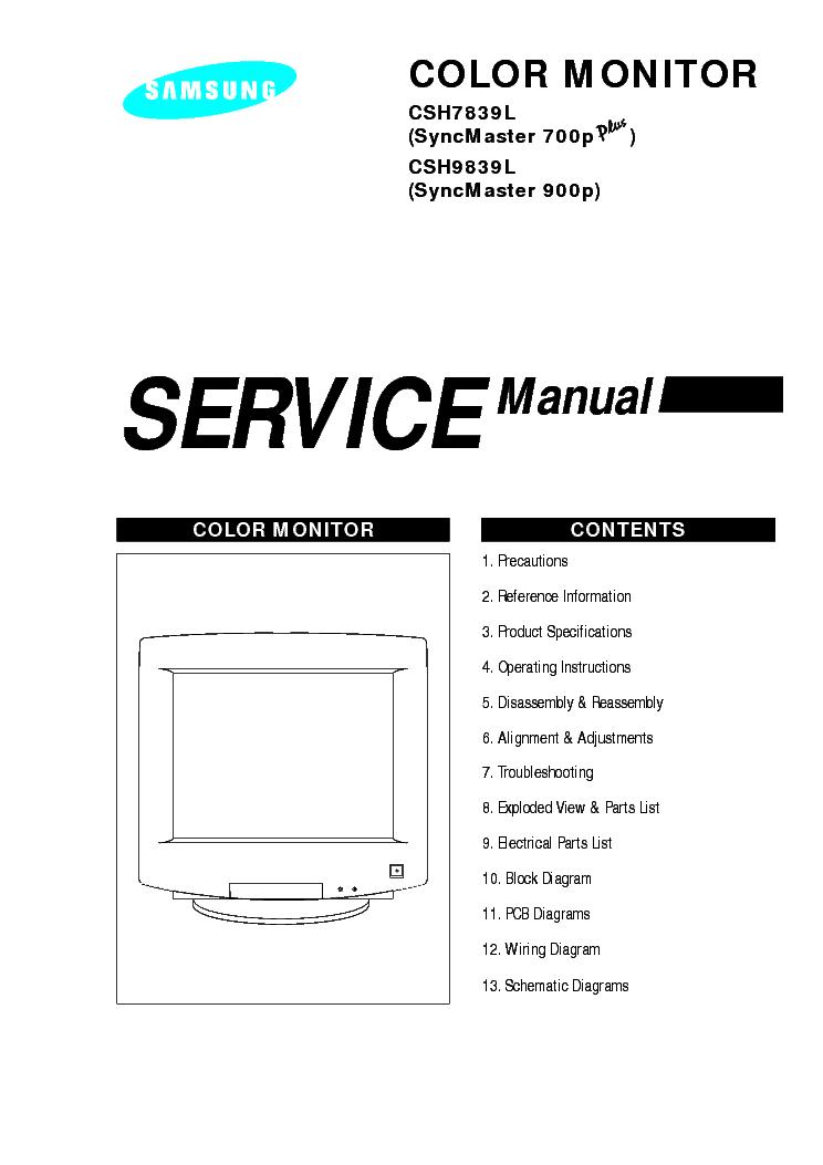 samsung syncmaster 700p 900p service manual download schematics rh elektrotanya com Samsung Dishwasher Repair Manuals Samsung Parts Manual