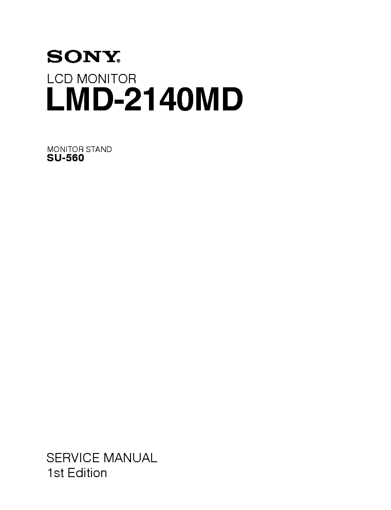 Sony Lmd 2140md Service Manual Download Schematics Eeprom Repair Info For Electronics Experts