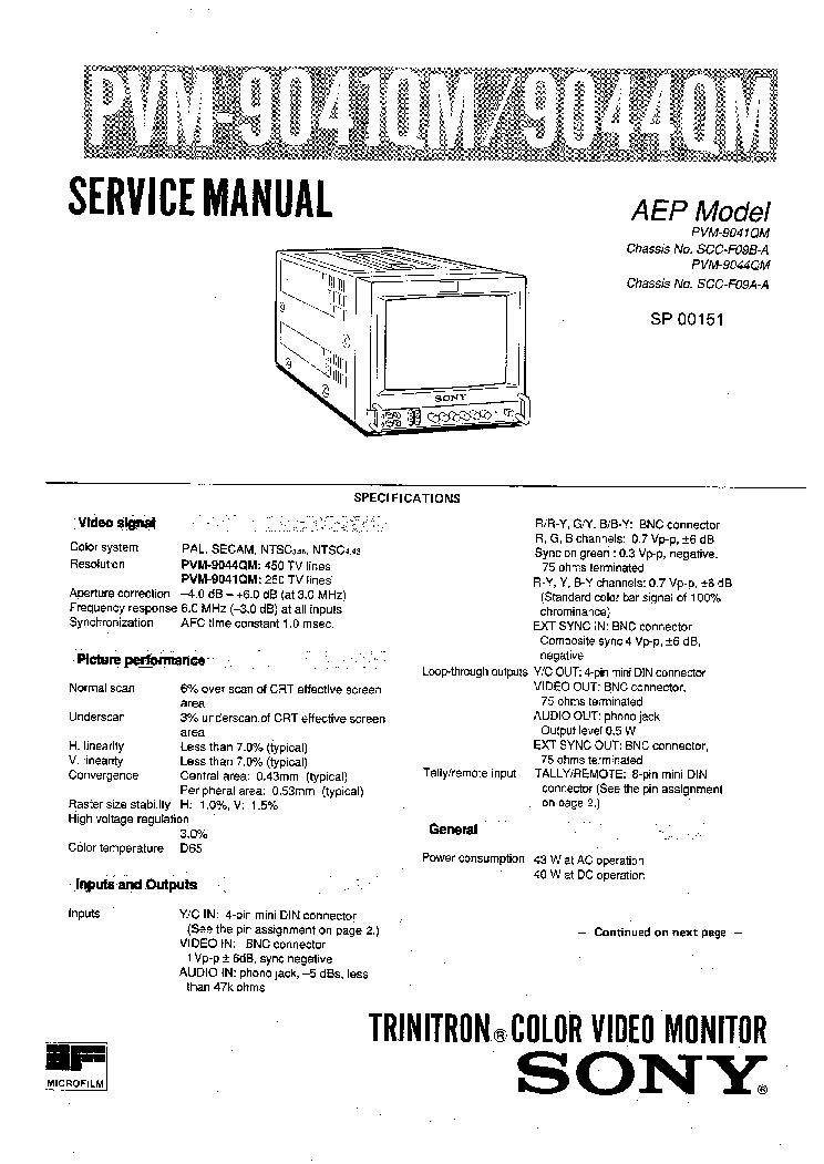 Sony Pvm 9220me Service Manual Download Schematics Eeprom