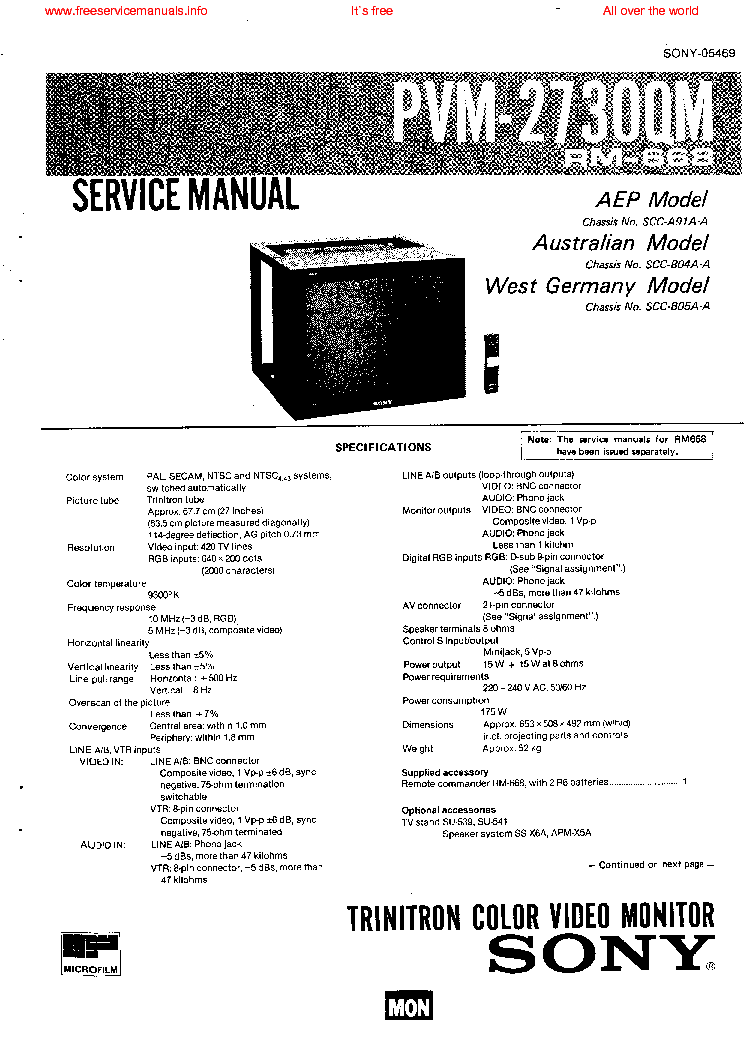 sony pvm 2730qm service manual download  schematics  eeprom  repair info for electronics experts