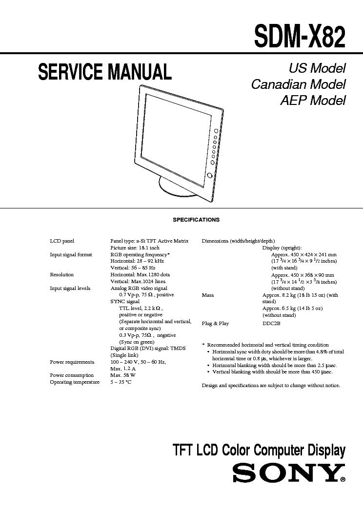 SONY SDM X82 TREIBER WINDOWS 8