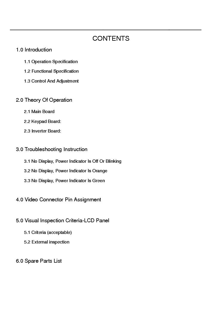tatung lp-10t vibrant service manual (2nd page)