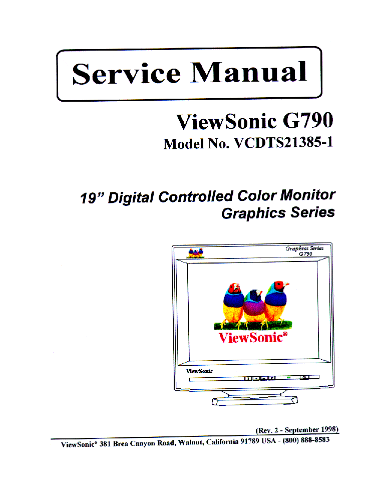 Viewsonic ve710s service manual