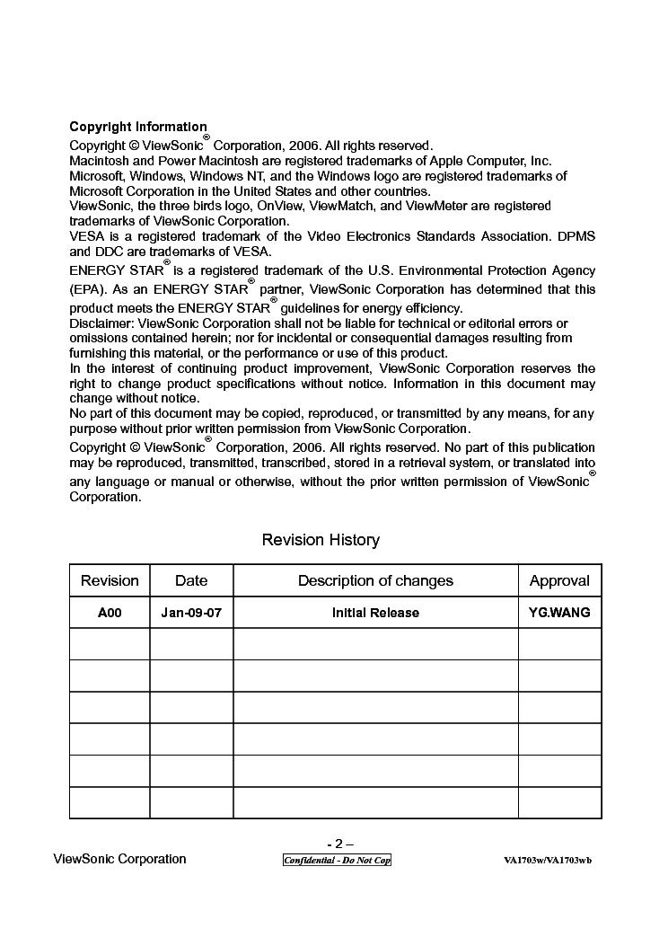VIEWSONIC VA1703W DRIVER DOWNLOAD FREE
