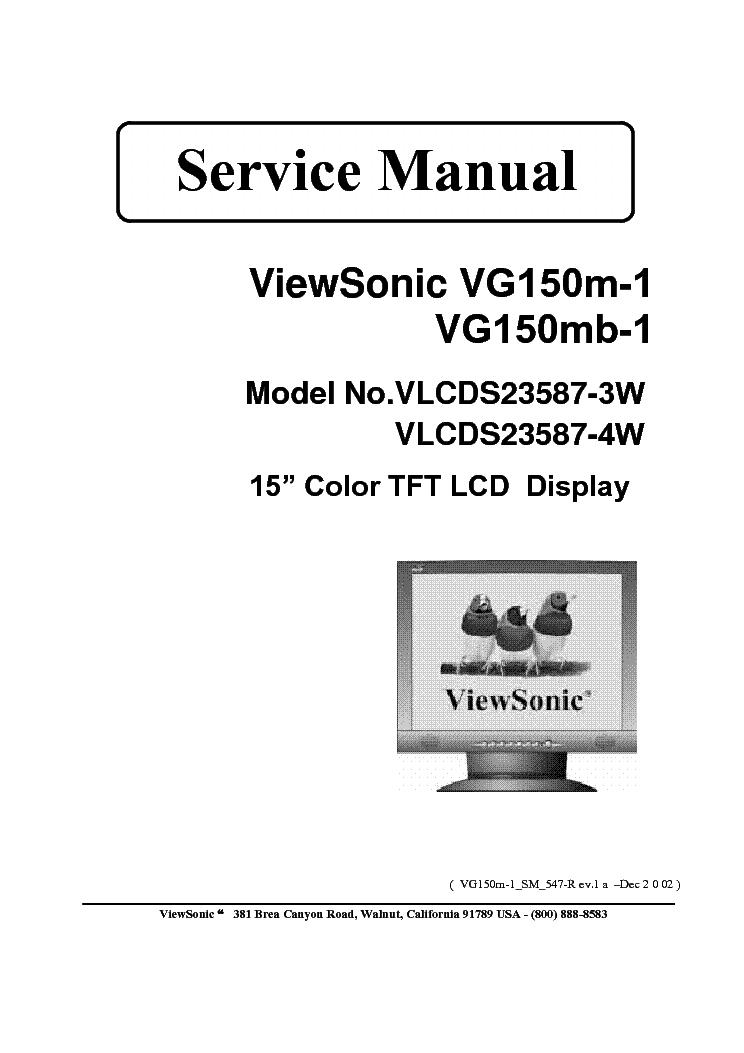 Viewsonic Va703b 3 Va703m 3 Va703m 6 Vs11359 Service Manual Download Schematics Eeprom Repair Info For Electronics Experts