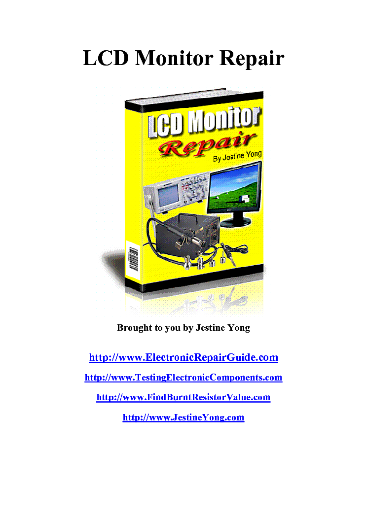 lcd monitor repair guide service manual download schematics eeprom rh elektrotanya com lcd monitor buying guide india lcd monitor disassembly guide