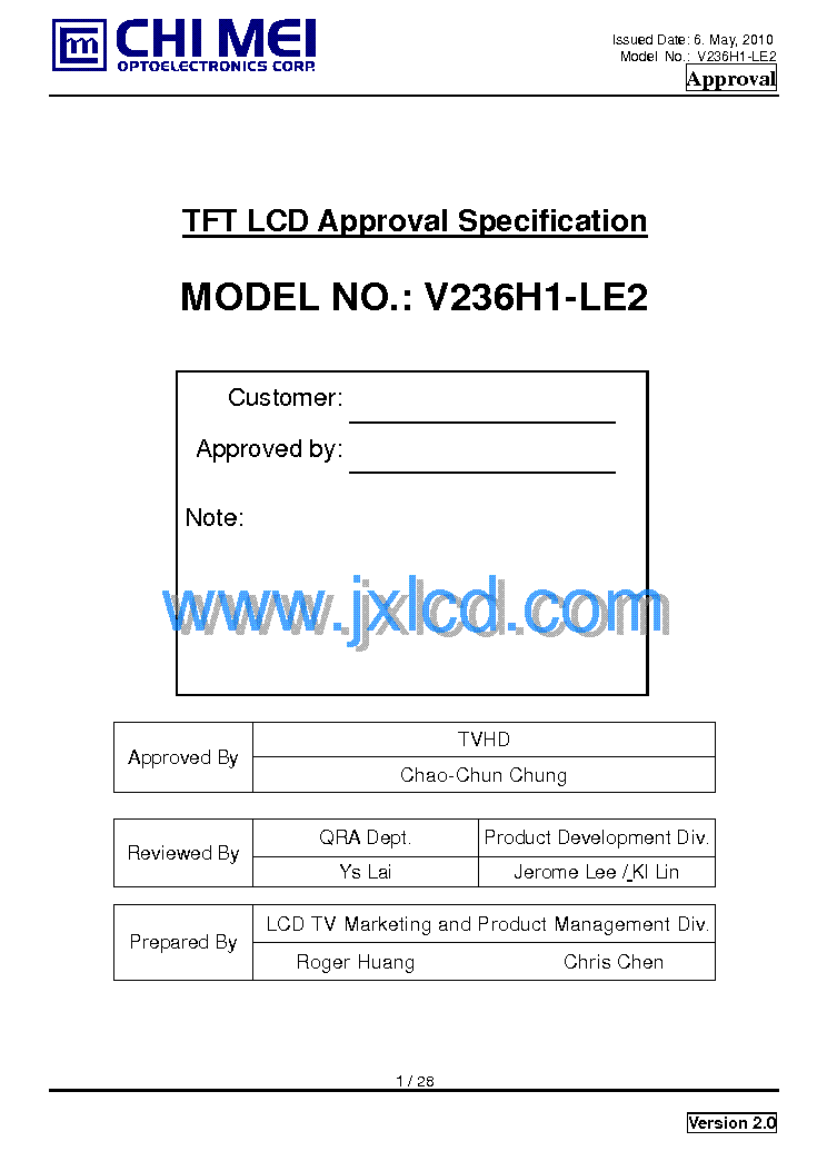 chi mei v236h1-le2 ver.2.0 service manual free download, Wiring schematic