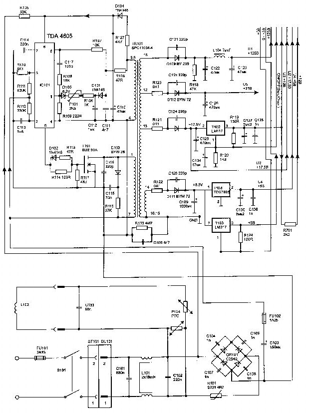 beko tda4605 buz90 power