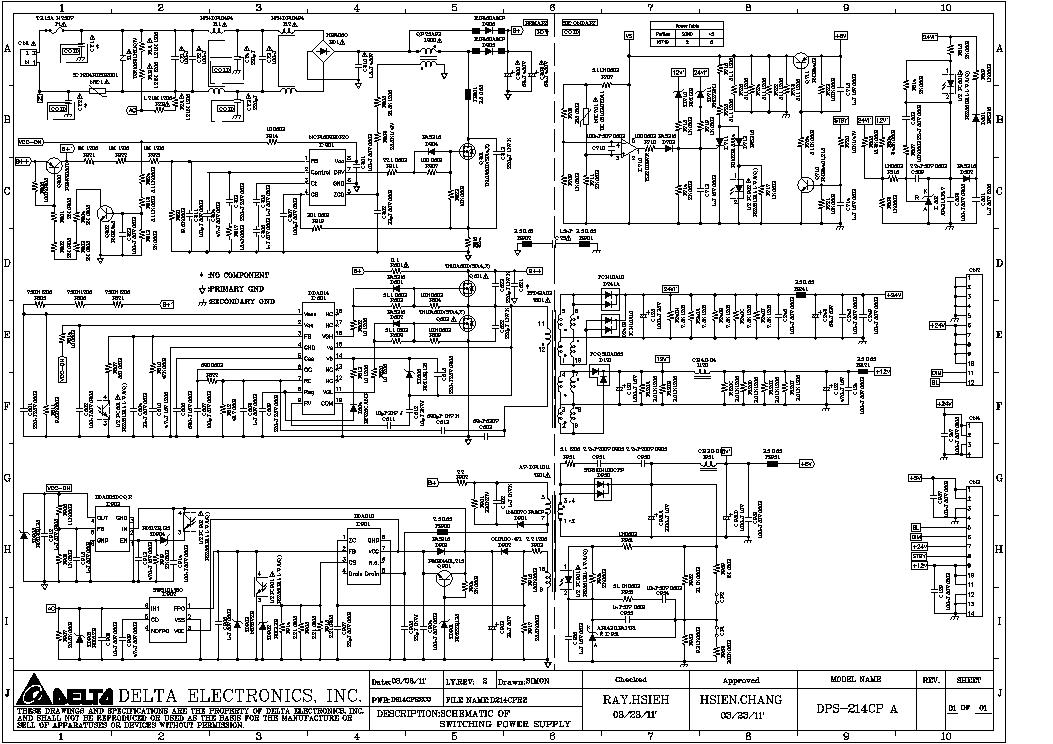 delta power supply schematics