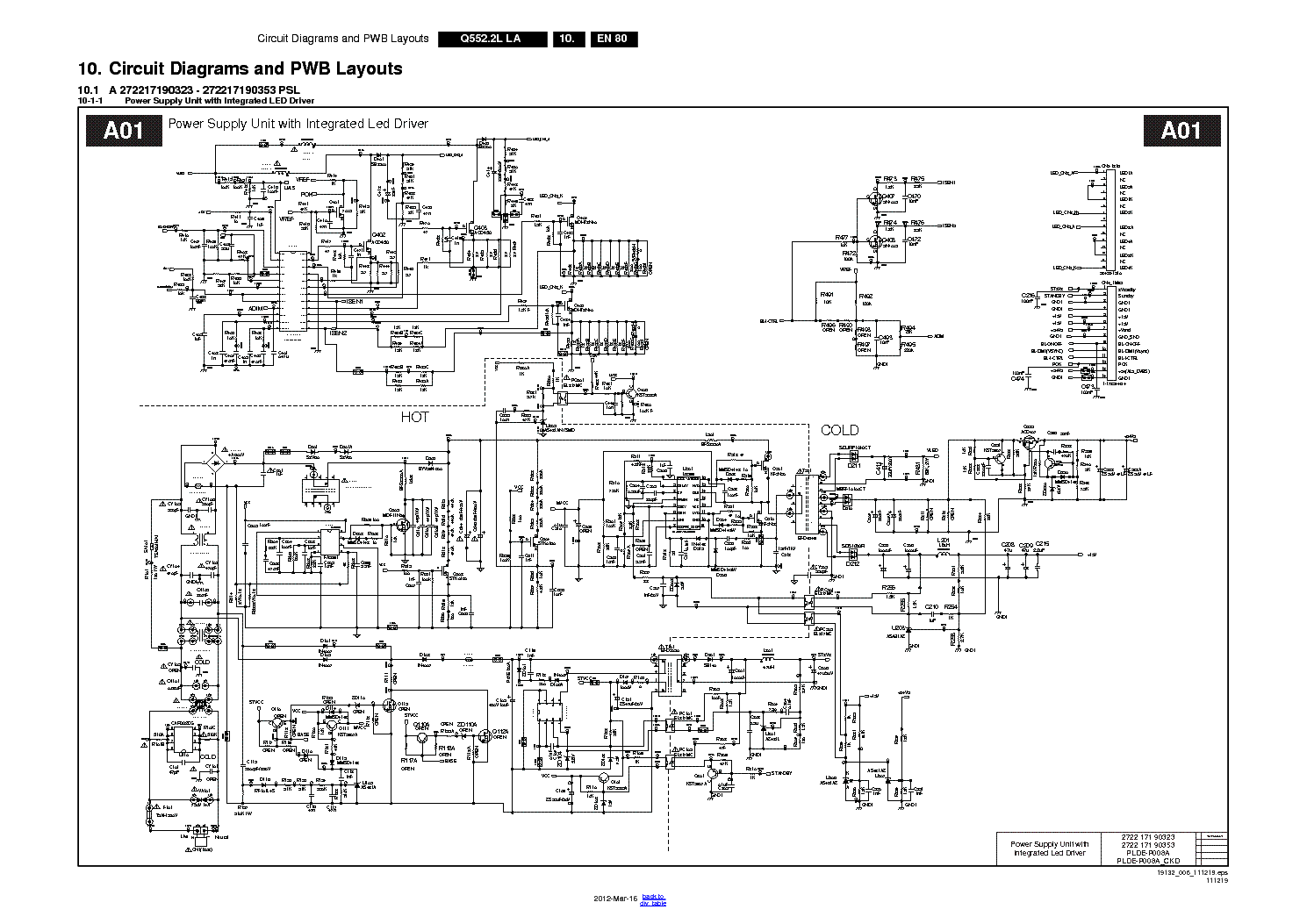 crt television schematic diagram