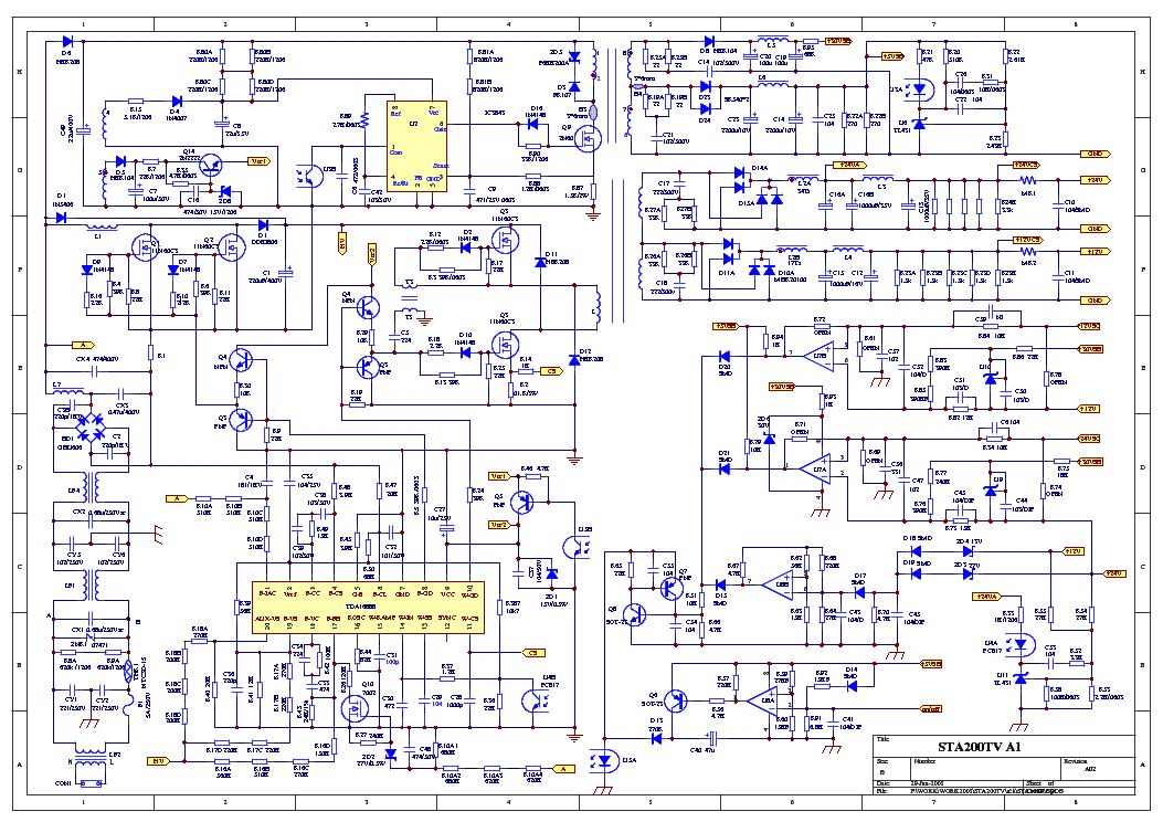 Sta200tv Tda16888 Tny266 Lm393 Power Lcd Service Manual