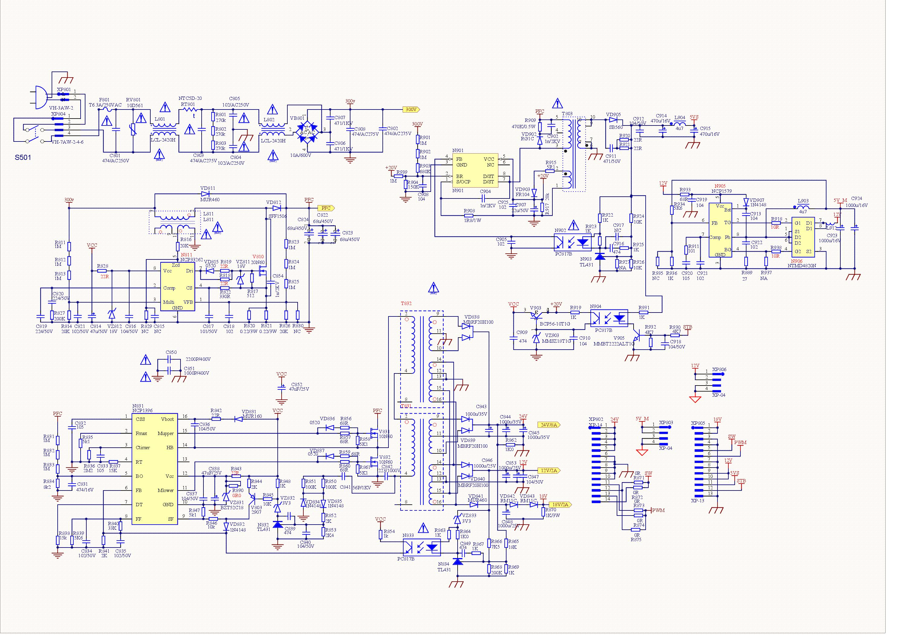 Hisense Rsag7 820 5024 Led Power Supply Sch Service Manual Download  Schematics  Eeprom  Repair