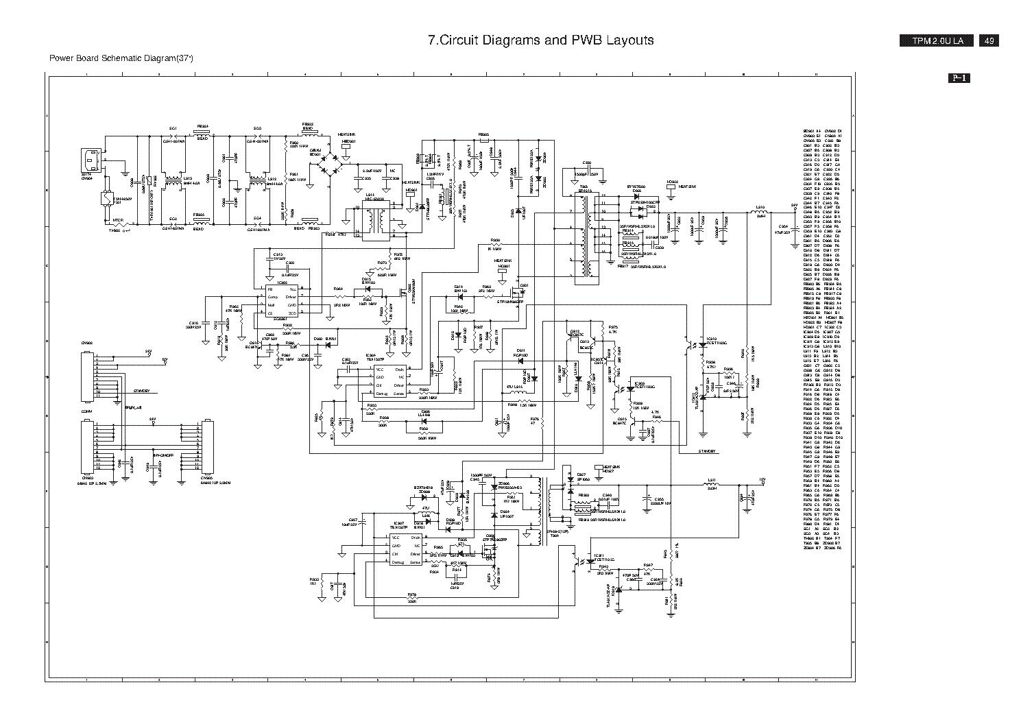 philips ba3af0f0102 1 power supply sch service manual download  schematics  eeprom  repair info