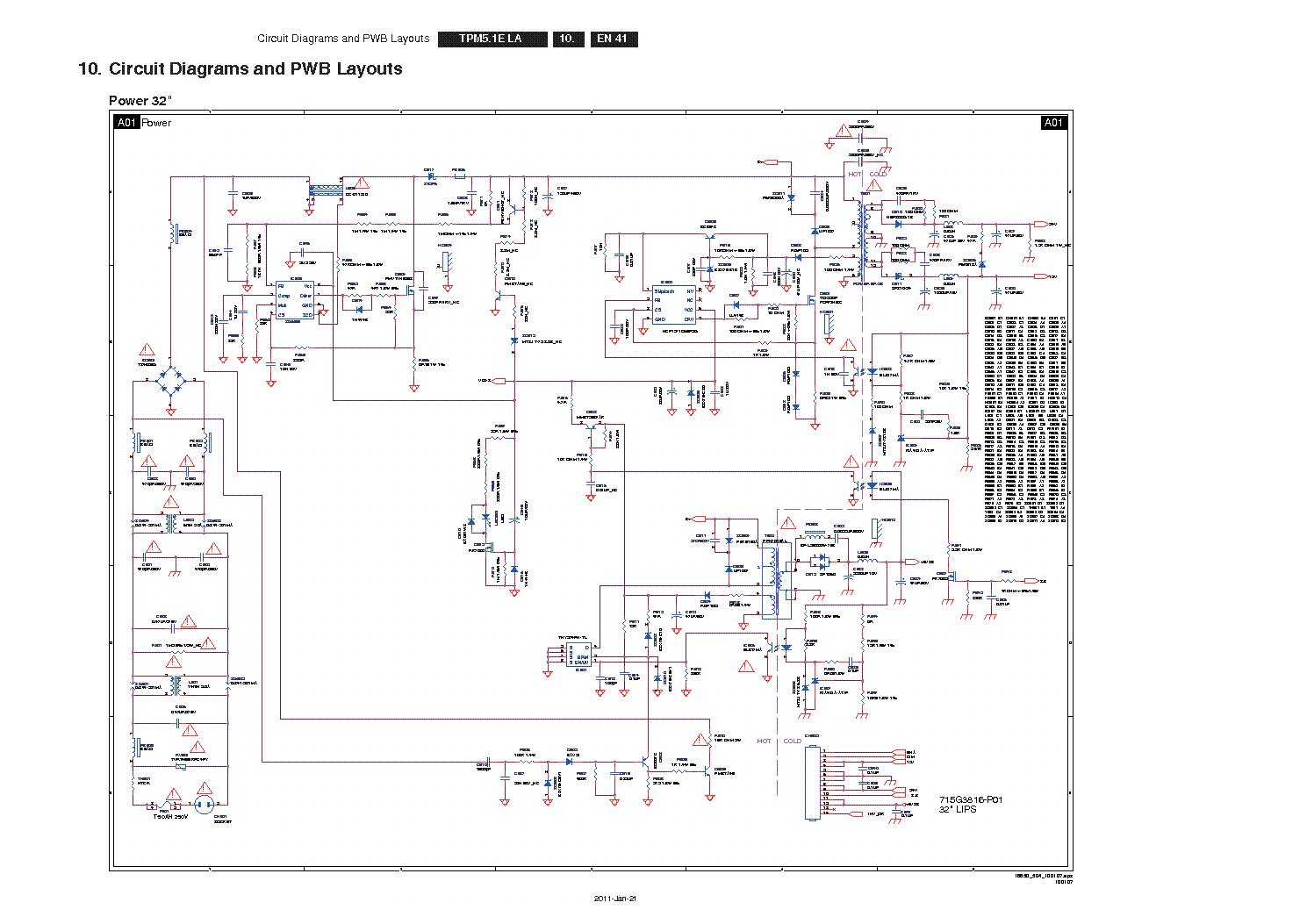 Телевизор philips 20pfl4112s 60 схема