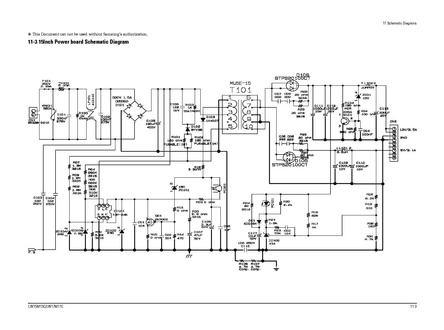 SAMSUNG BN44-00622B POWER SUPPLY SCH Service Manual download
