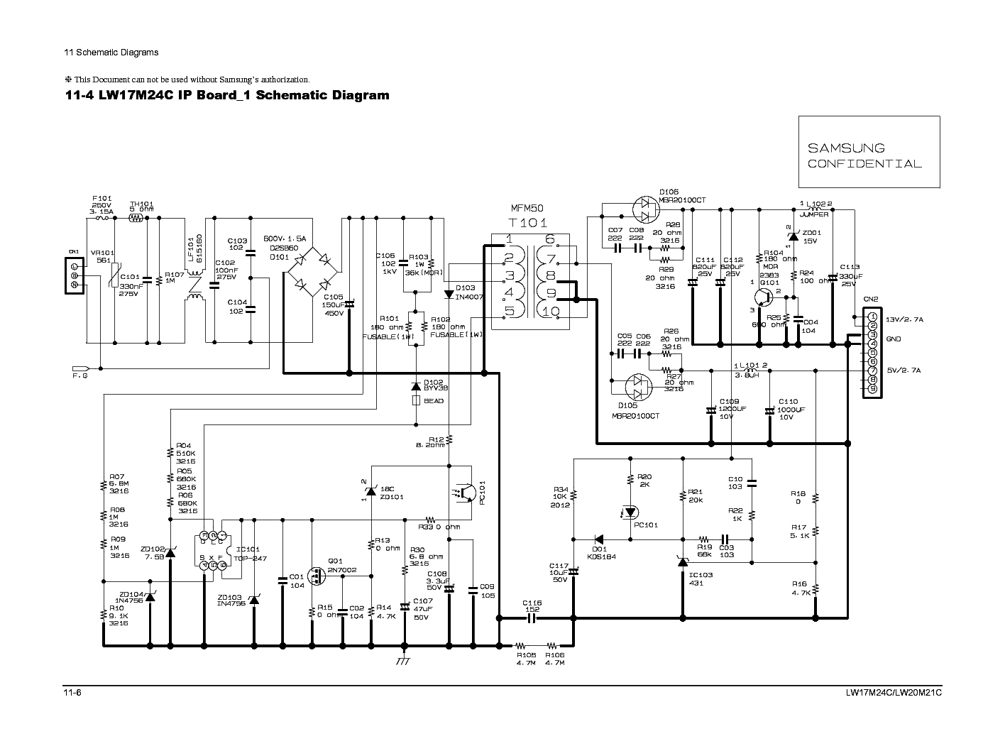 Samsung Bn44 00111b Inverter Power Sch Service Manual