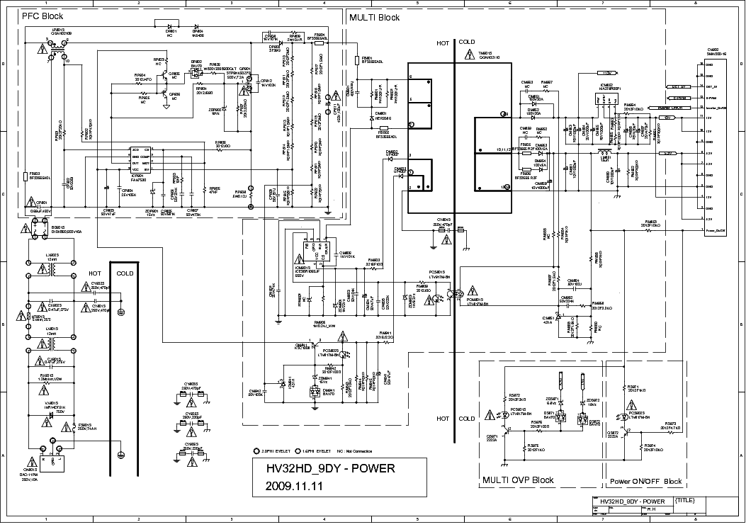 Схема блока питания плазменного телевизора samsung