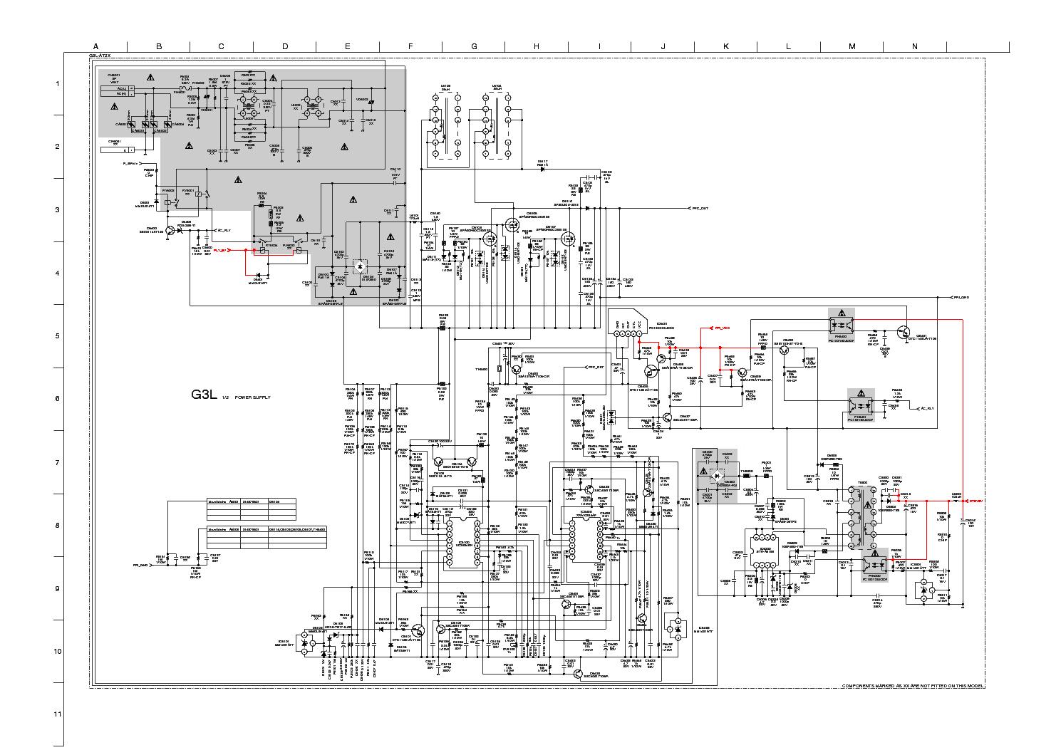 Sony G3l 1 863 575 12 Uc3845b Xra10324a Cxd9841m Sch
