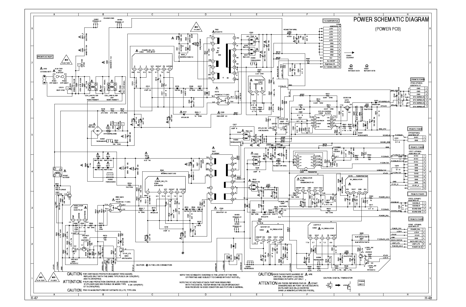 Sharp Lc32sh20u Power Schematic Sch Service Manual