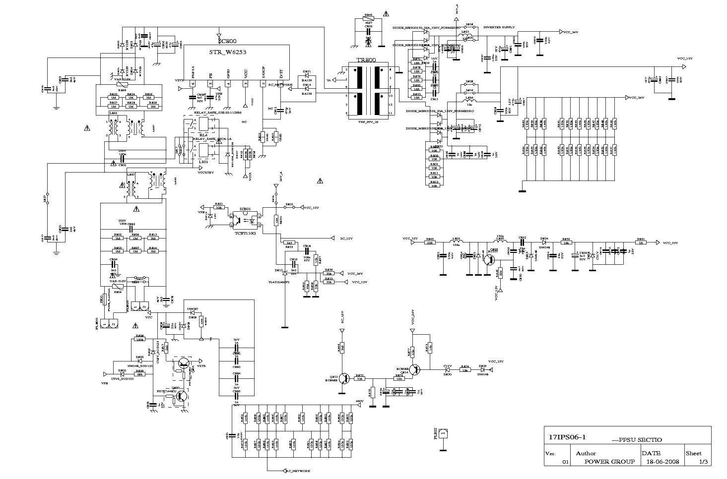 Vestel 17ips061 Power Supply Sch Service Manual Download