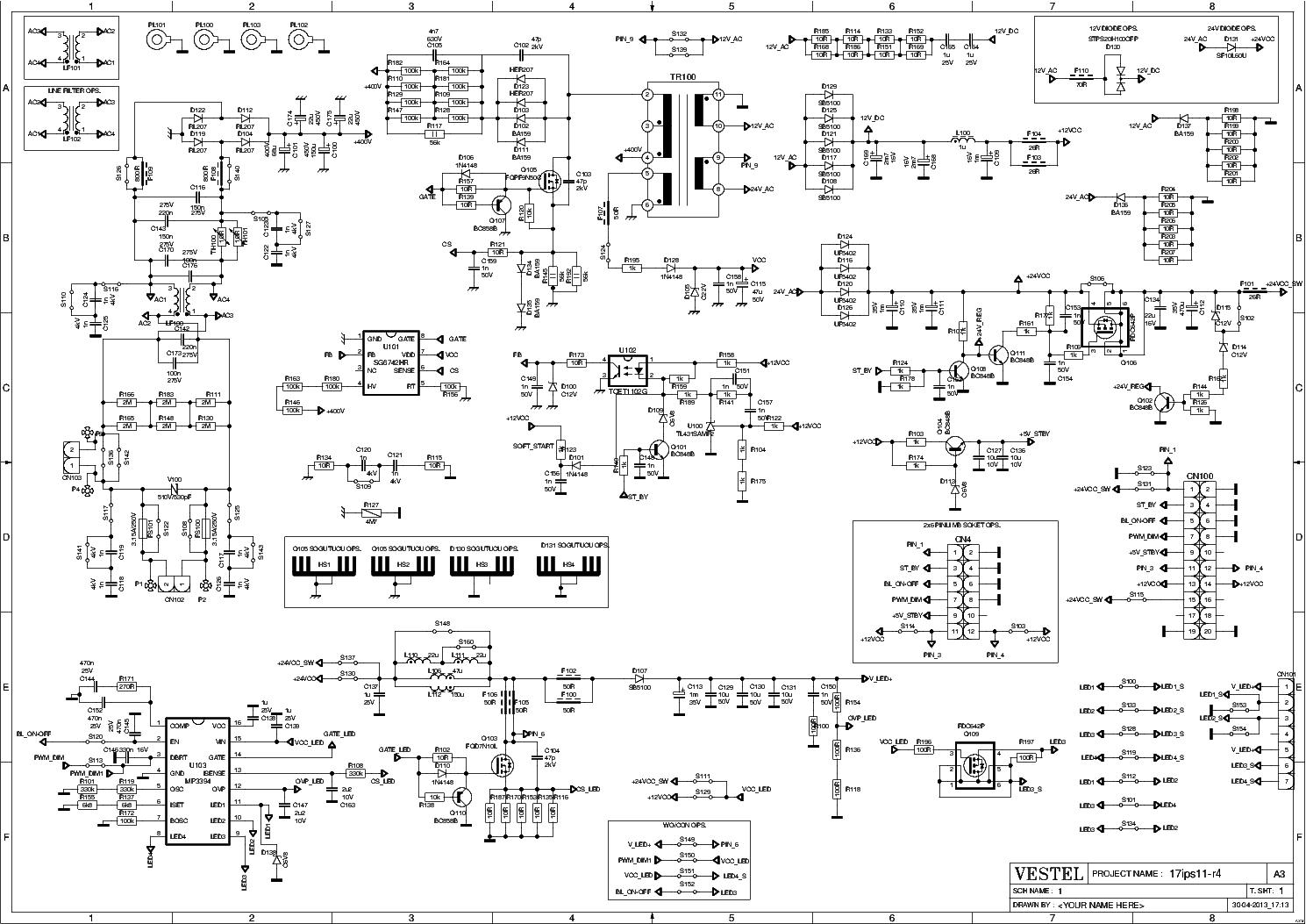 Vestel 17ips11  U0441 U0445 U0435 U043c U0430