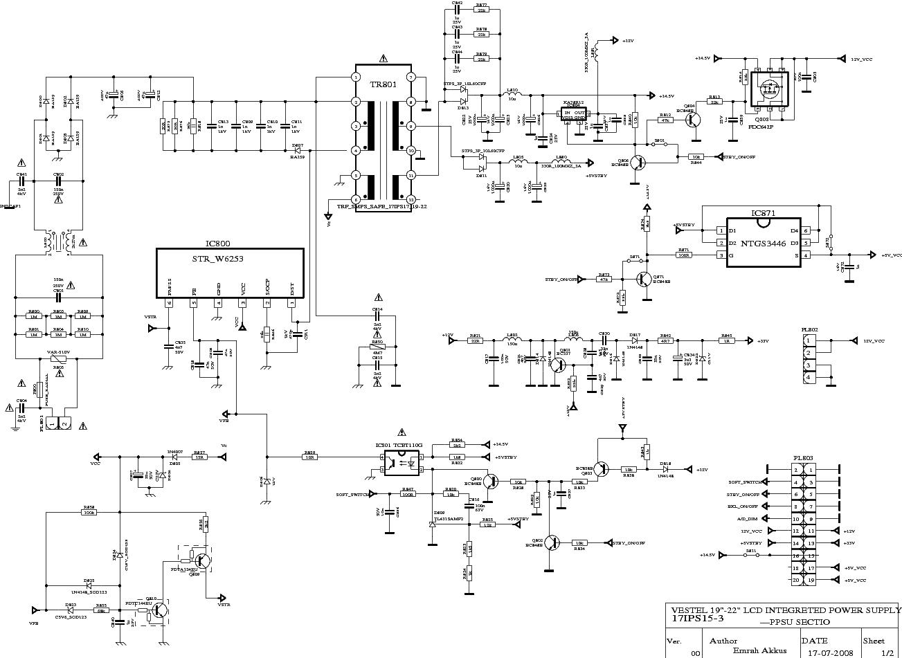 Vestel 17ips163 Power Supply Sch Service Manual Free