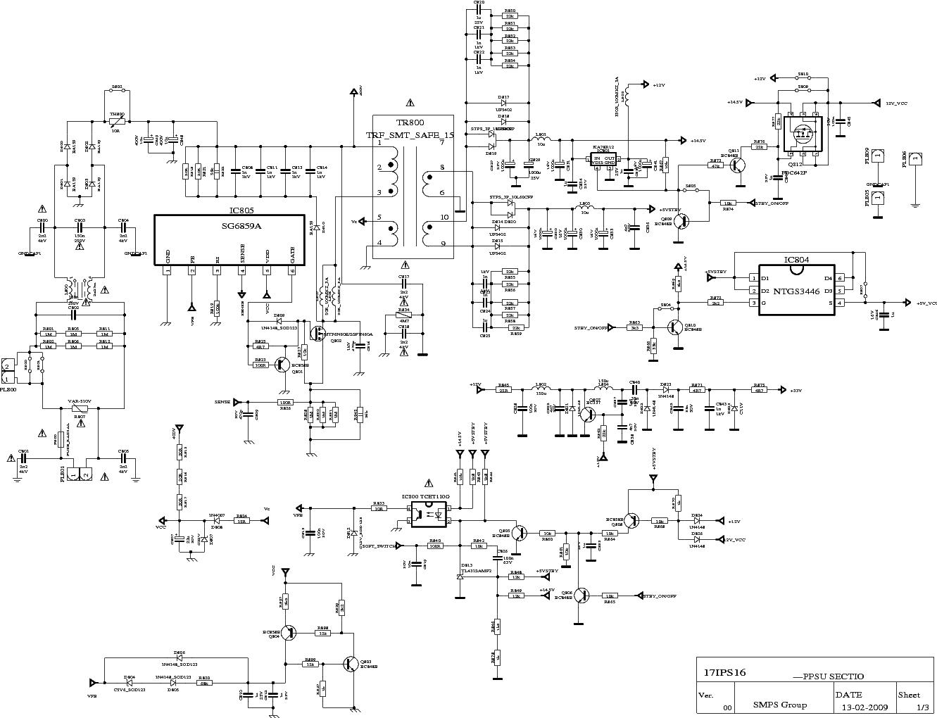 Vestel 17ips16 Power Supply Sch Service Manual Download