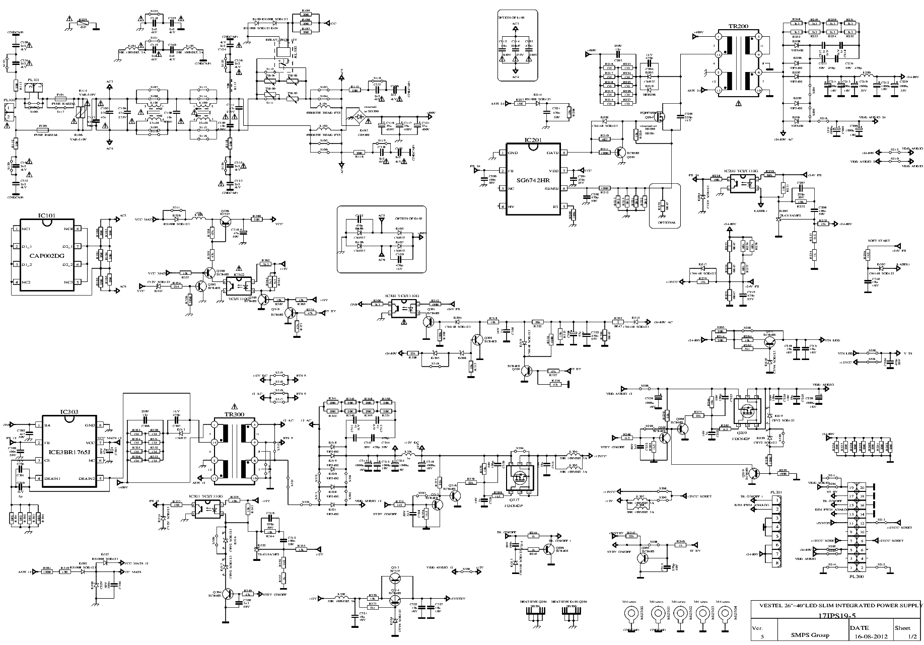 VESTEL 17IPS19-5 SMPS SCH Service Manual download, schematics ...