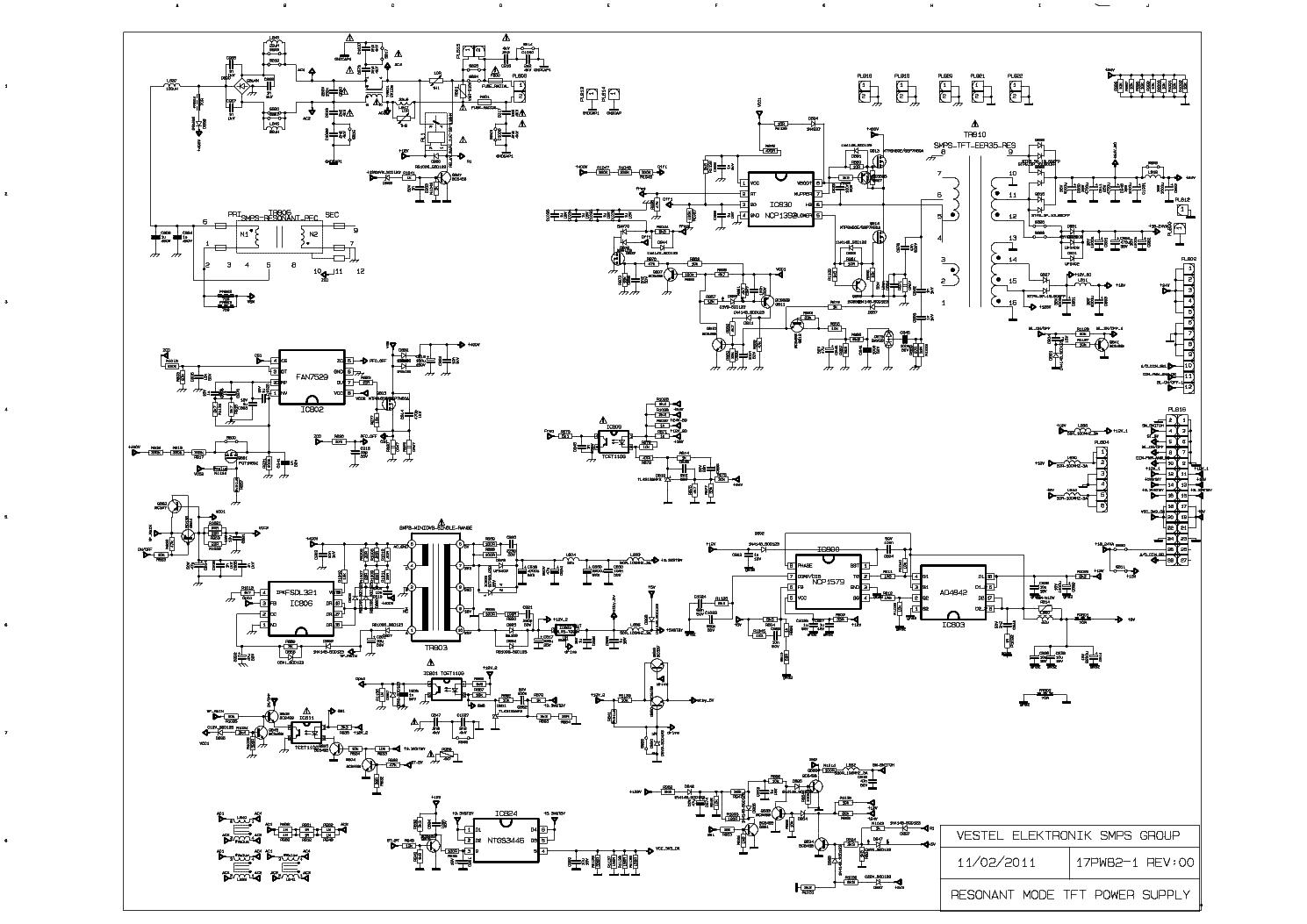 VESTEL 17PW82-2 SCH Service Manual download, schematics, eeprom ...