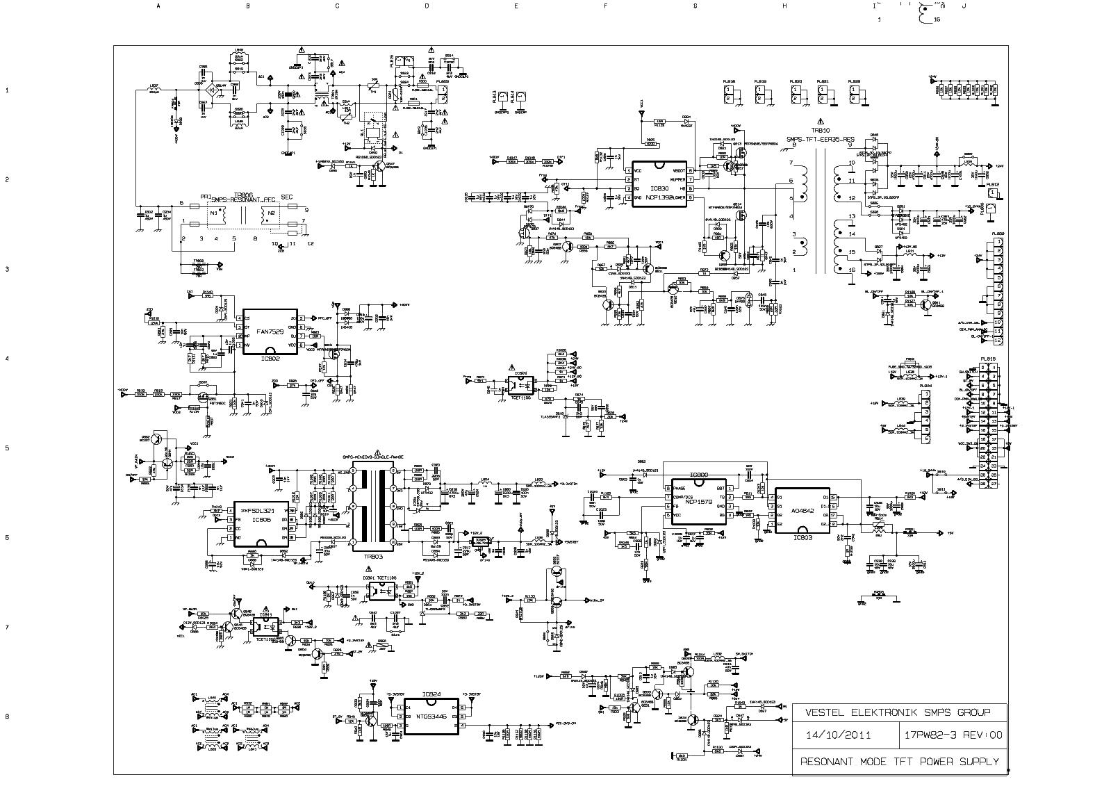 VESTEL 17PW82-3 SCH Service Manual download, schematics, eeprom ...