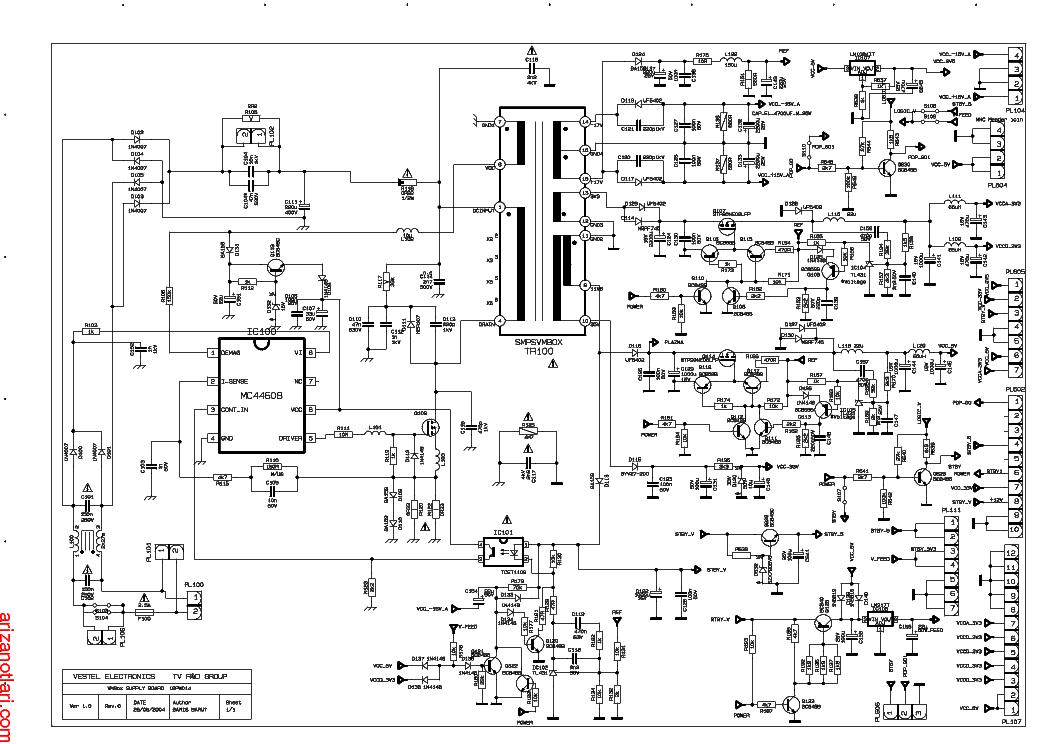 vestel 17pw22 4 lcd power supply service manual free download  schematics  eeprom  repair info