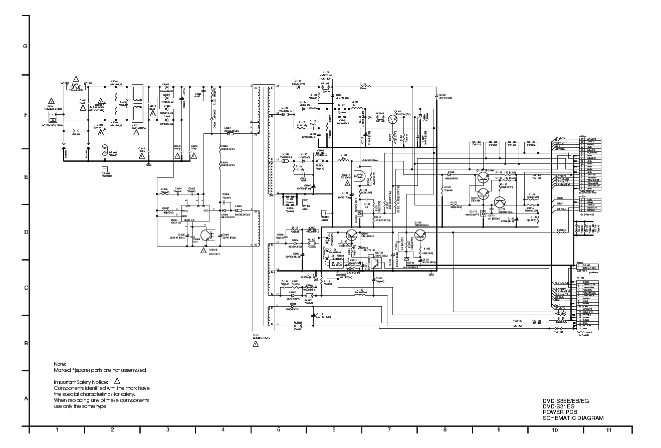 Panasonic Dvd S31eg S35e Eb Eg Power Supply Sch Service Manual Pcb Circuit Diagram Pdf
