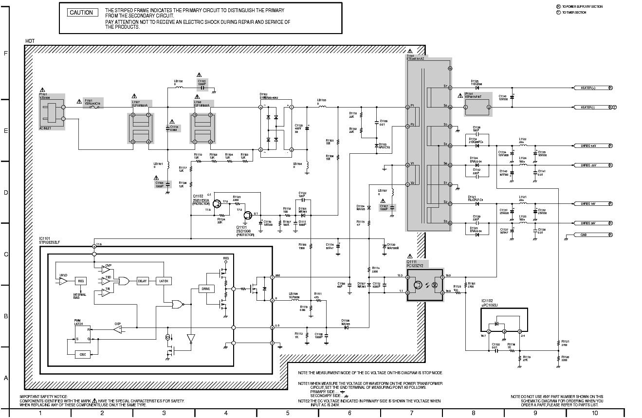 PANASONIC NV-FJ625 STR-G6351 POWER-SUPPLY SCH service manual (1st page