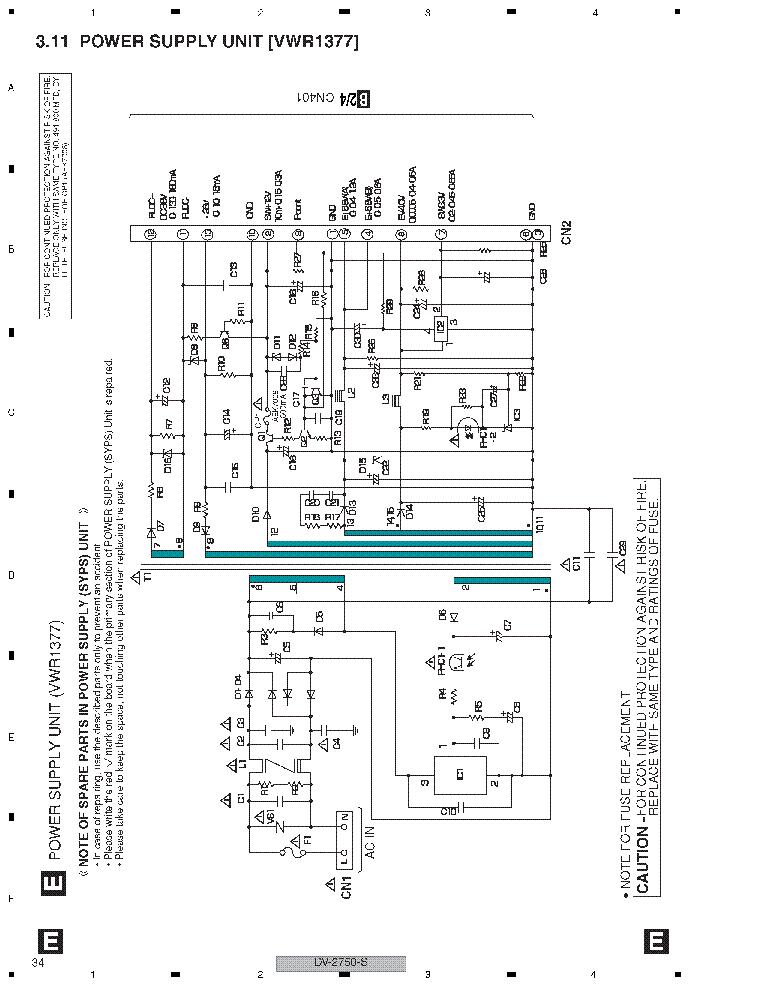 pioneer dvd power supply vwr1377 sch service manual download  schematics  eeprom  repair info
