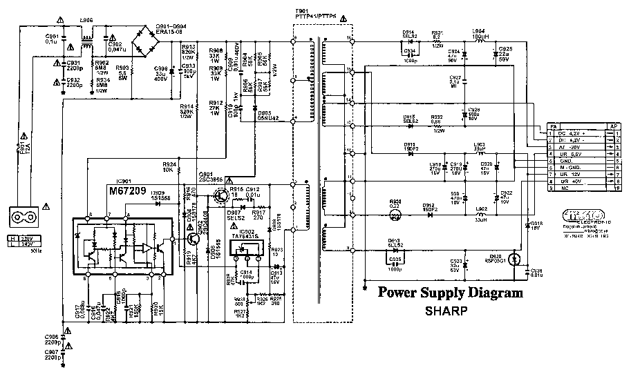 Sharp Service Manual Download  Schematics  Eeprom  Repair