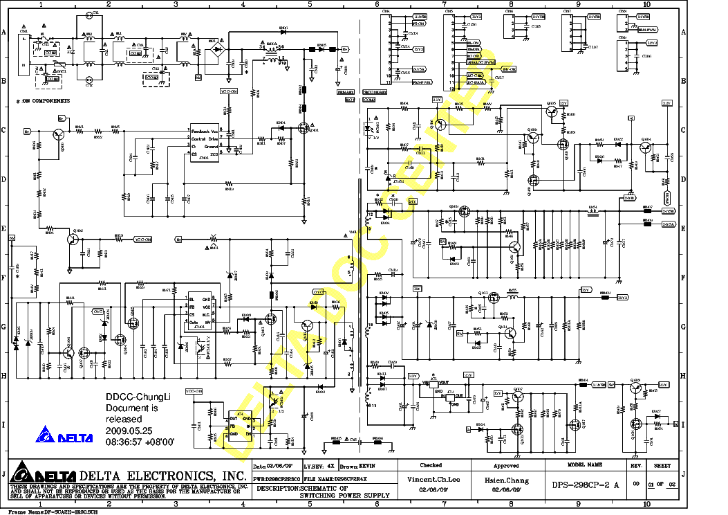 delta electronics power supply schematics  delta  get free