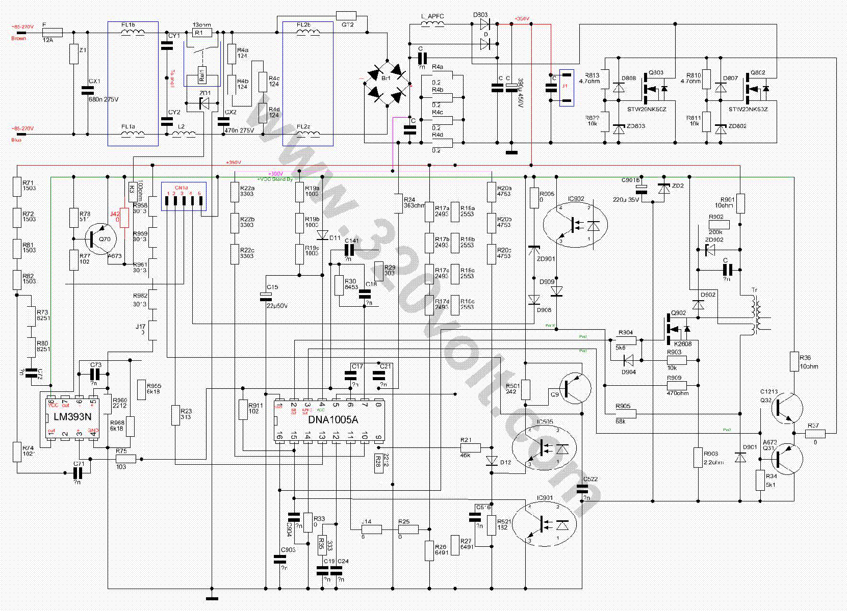 Atx Smps Atx Smps Circuit Atx Smps Schematic Tl494 Atx