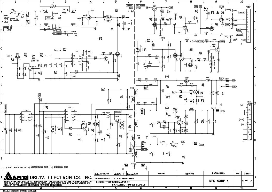 DELTA ADP-90SB V-2 AC-DC ADAPTER  Service Manual download