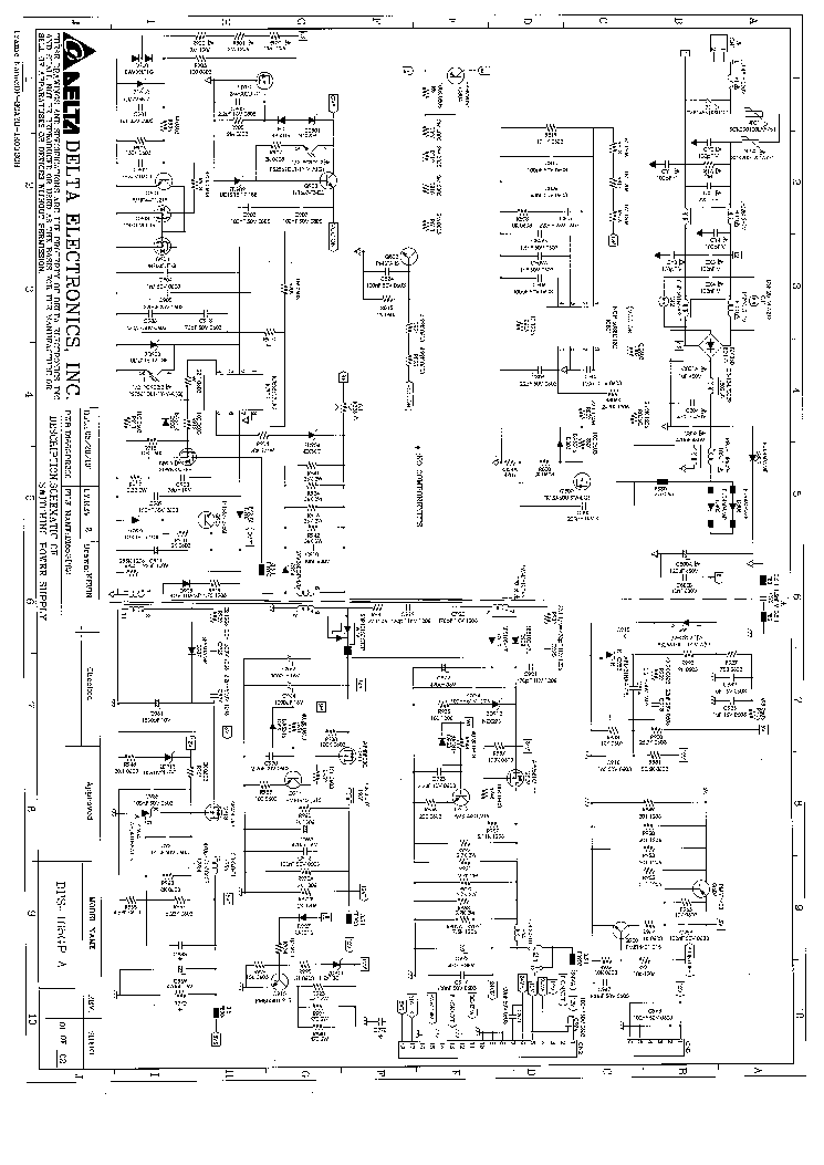 delta dps 165gp power supply sch service manual download  schematics  eeprom  repair info for