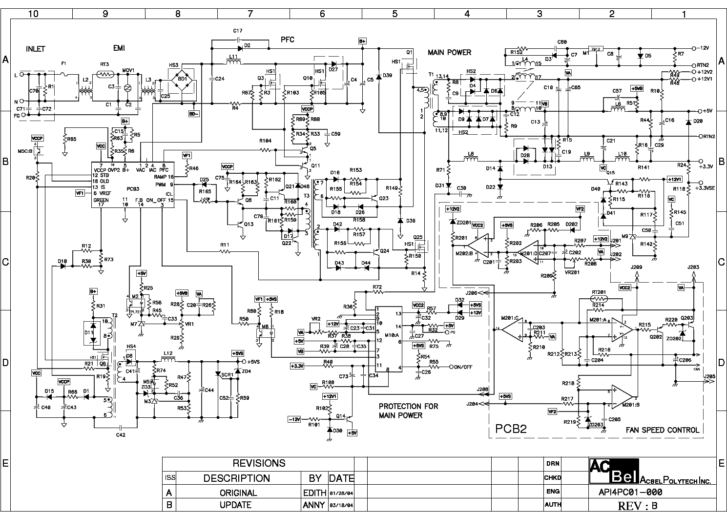 ACBEL API4PC01 ATX Service Manual download, schematics, eeprom ...