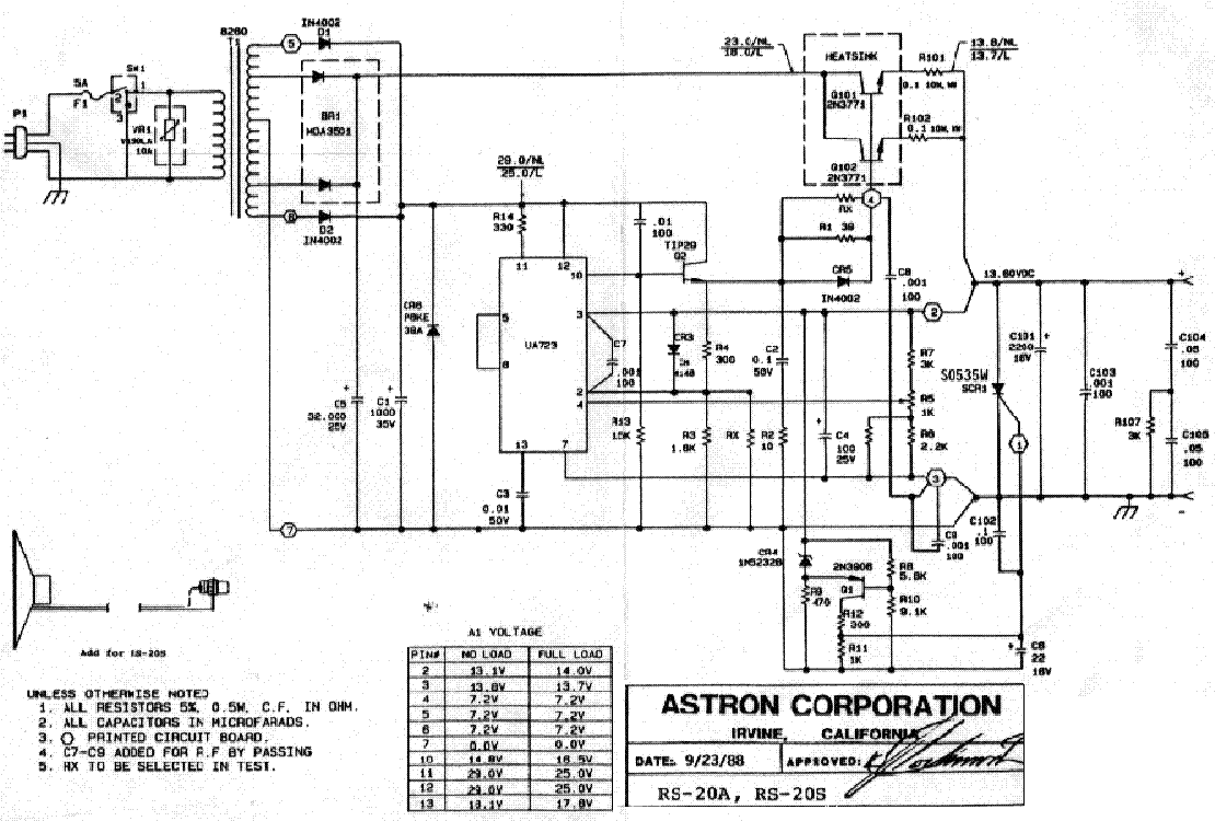 astron rs50m schematic