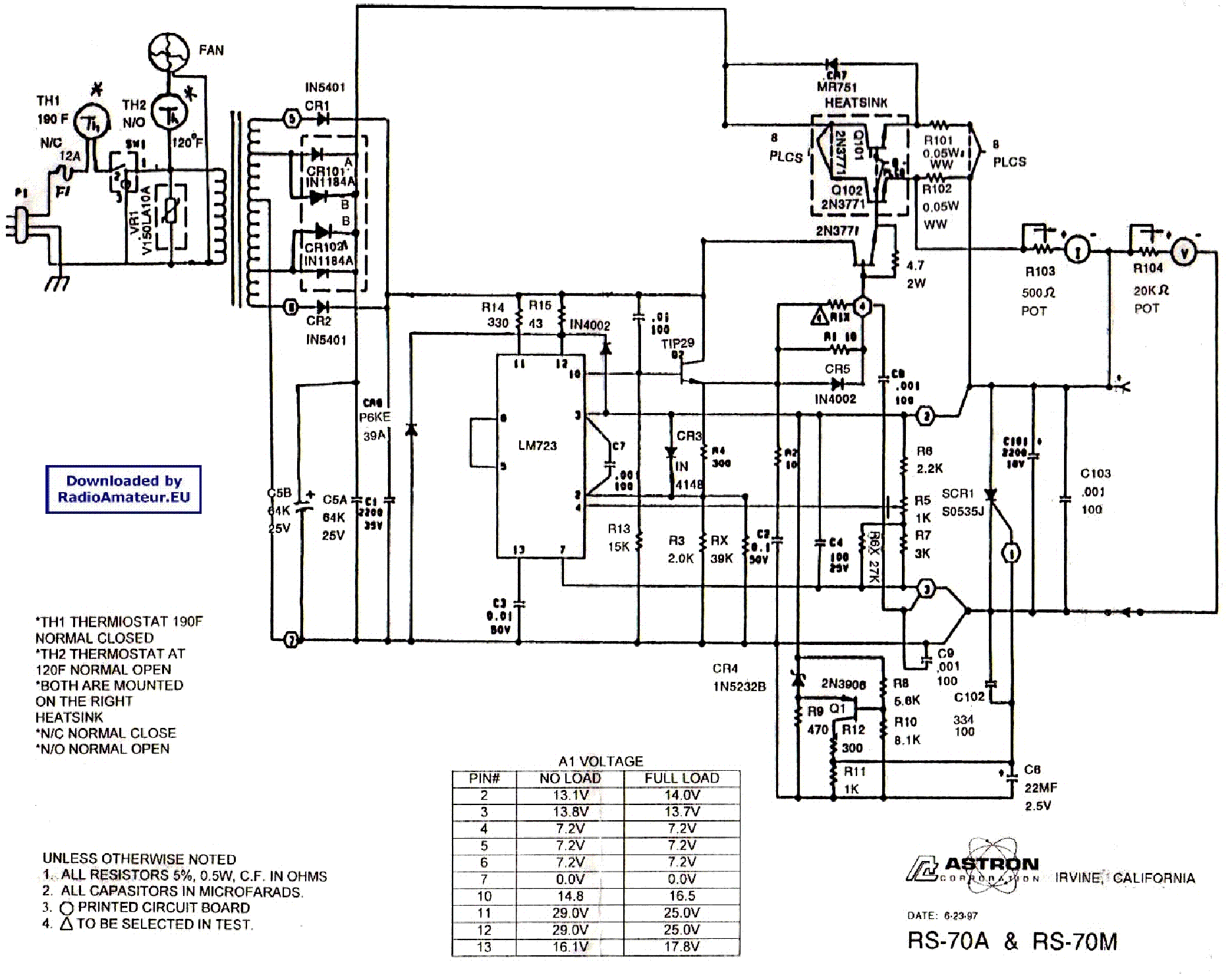 astron rs12a service manual download  schematics  eeprom  repair info for electronics experts