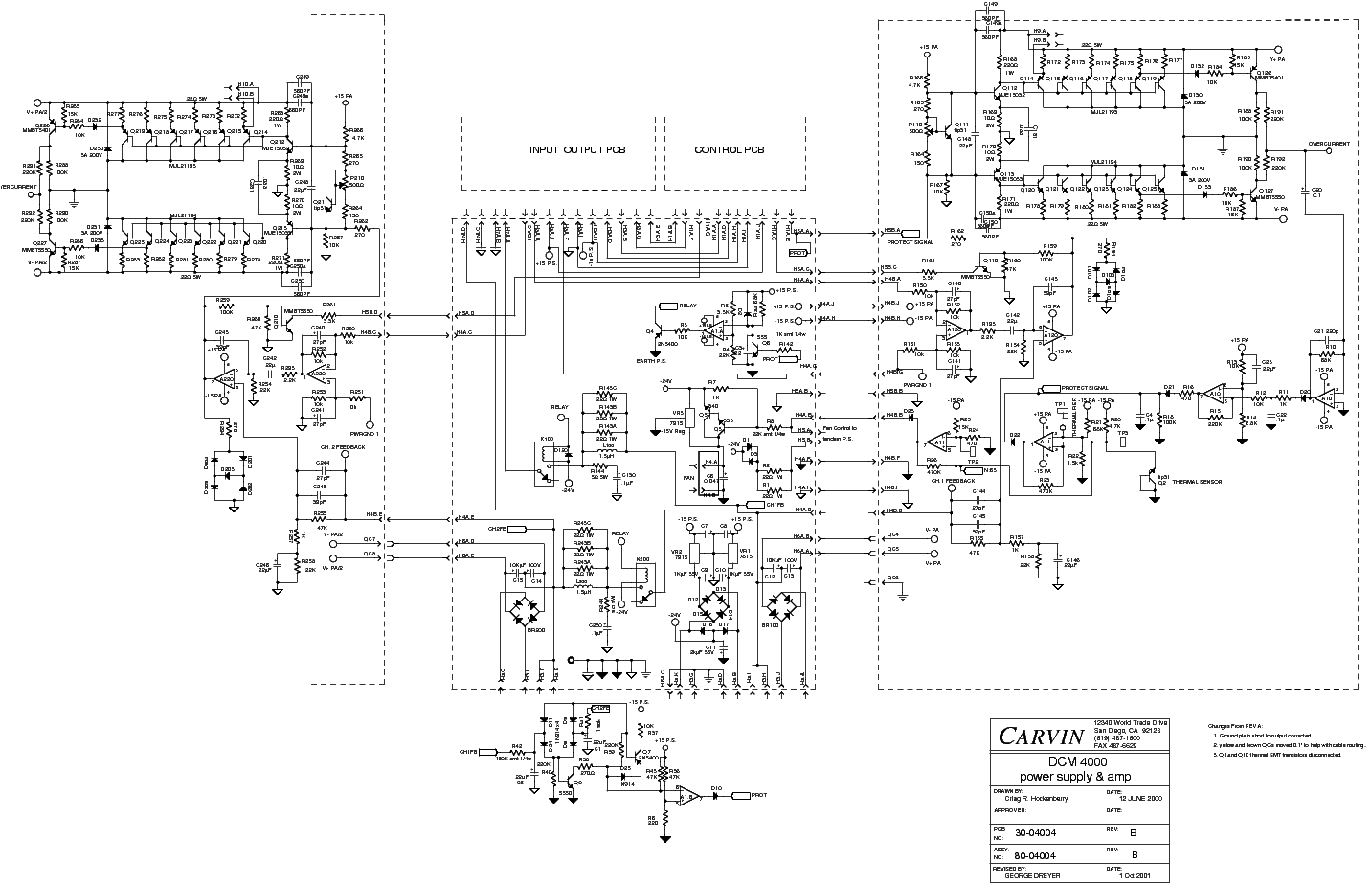 carvin dcm4000 power supply sch service manual download  schematics  eeprom  repair info for