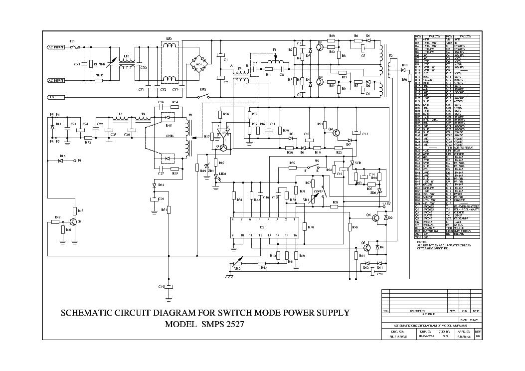 CONRAD 2527 SMPS 13.8 V 25A SCH Service Manual download, schematics ...