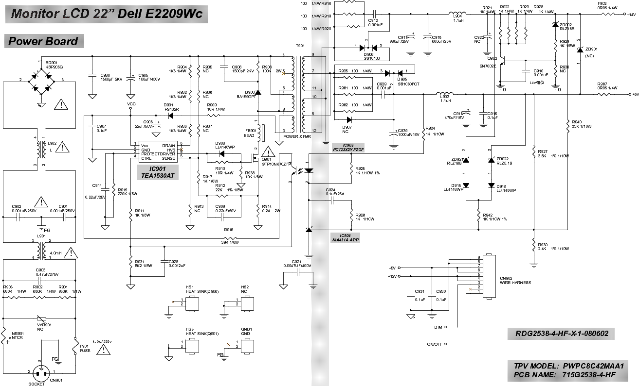 Dell Power Supply Schematic Quick Start Guide Of Wiring Diagram Schema Circuit Pa12 19v Notebook Adapter Smps 1d07012 3 Images Gallery