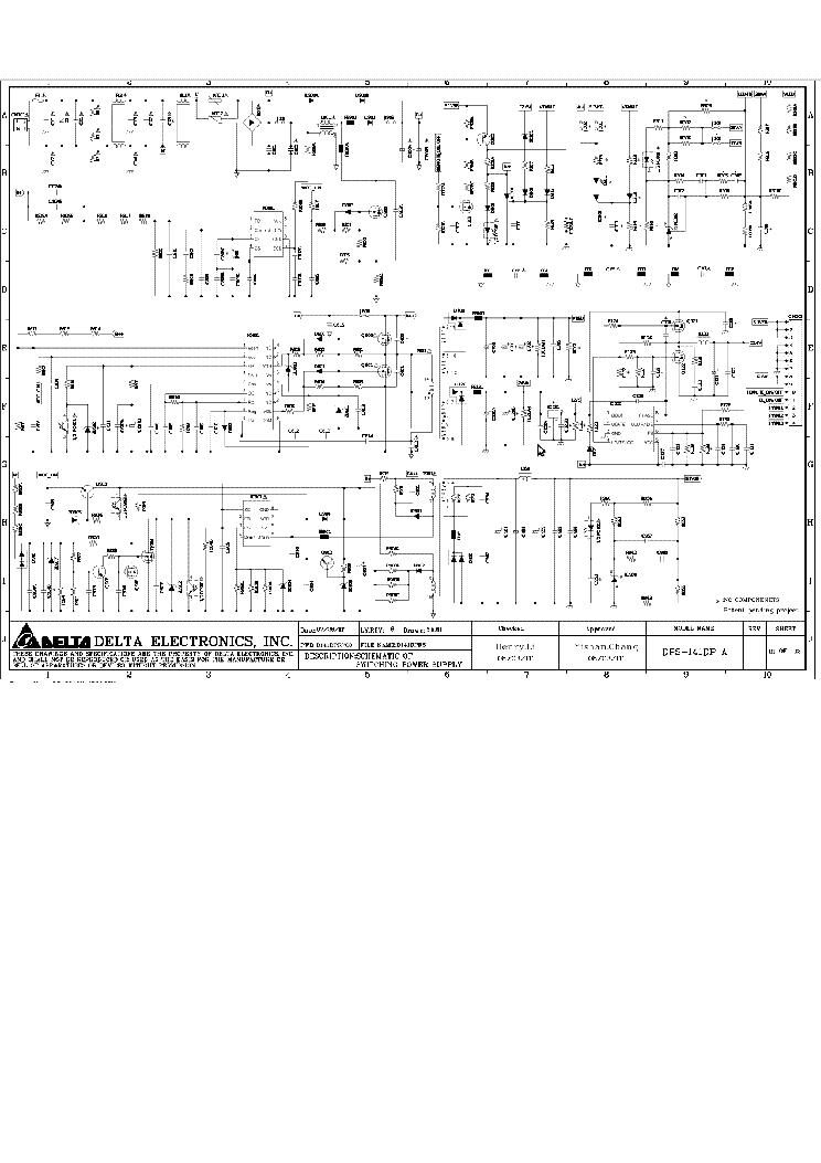 Power Supply Schematic Diagram Dps Ap on