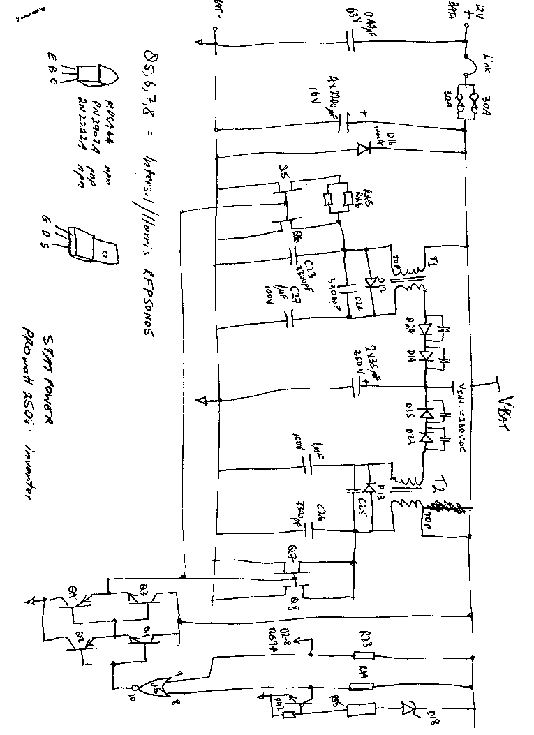 Statpower Prowatt 250i Inverter Circuit Diagram Service Manual Schematic 1st Page