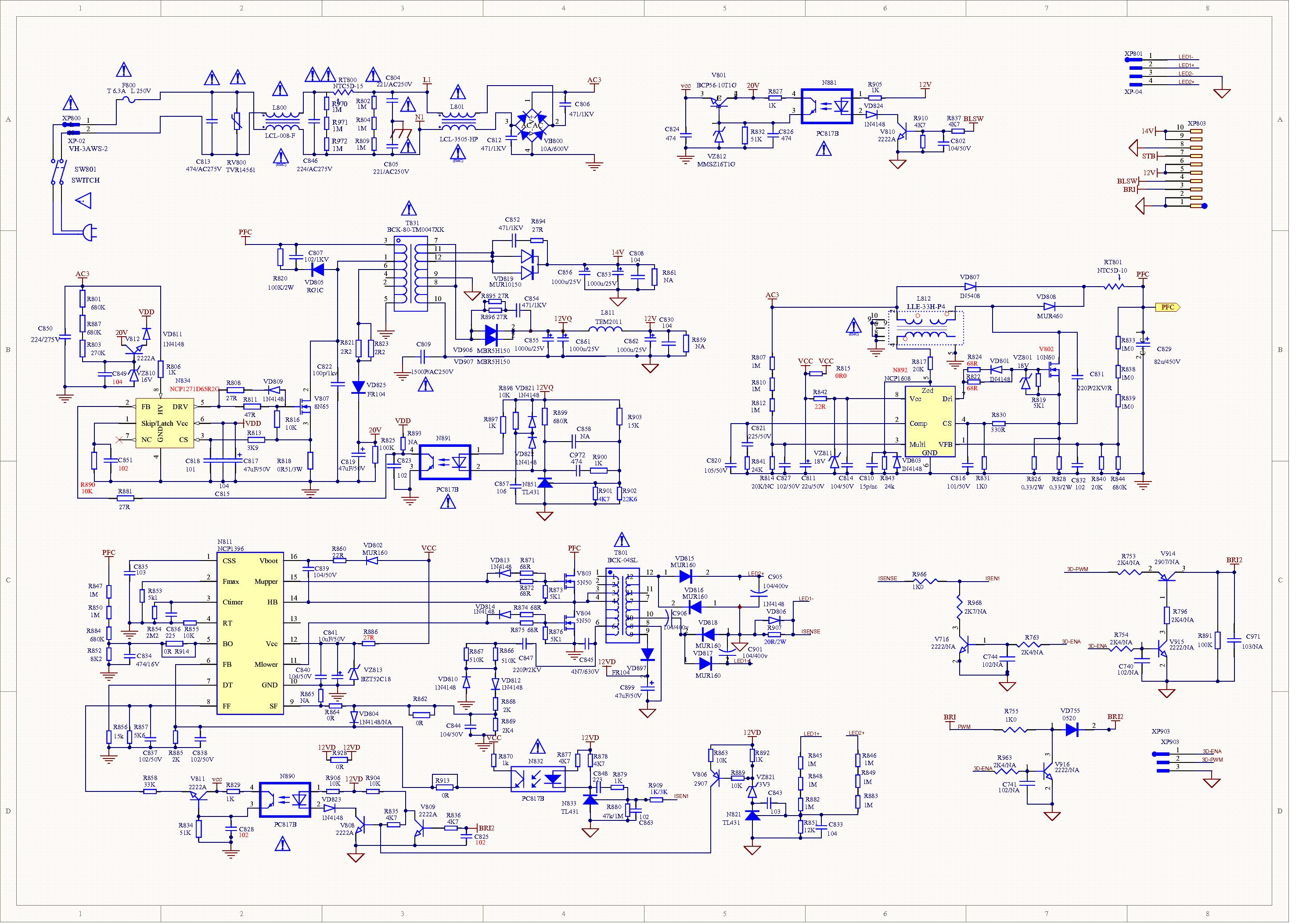 Hisense Rsag7 820 4885 Power Supply Sch Service Manual Download  Schematics  Eeprom  Repair Info