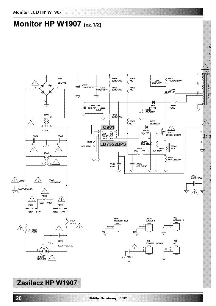 hp w1907 power inverter sch pl service manual download schematics rh elektrotanya com HP W1907 Width HP W1907 Unboxing