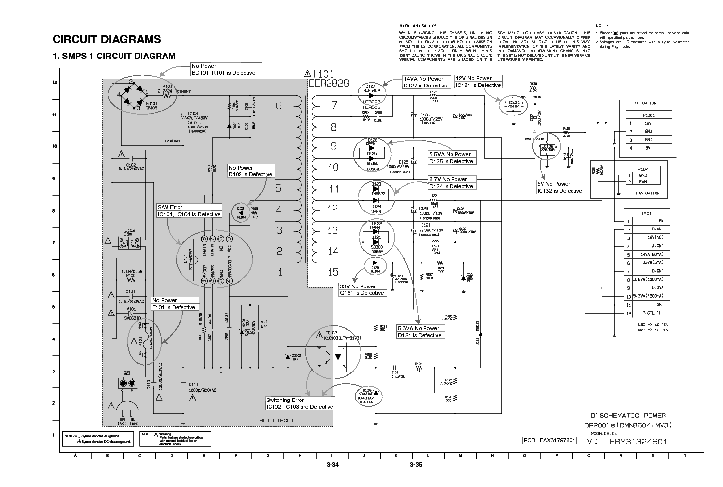 LG EAX31797301 EBY31324601 POWER SUPPLY service manual (1st page)